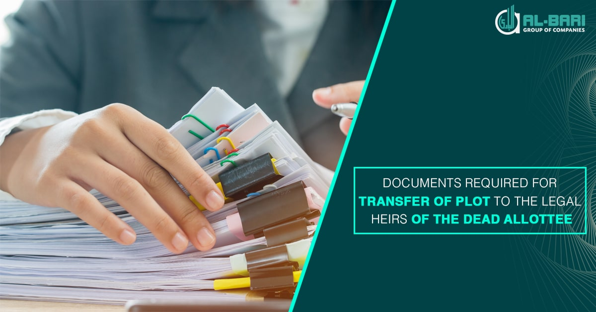 Documents required for transfer of plot of the dead Allottee.