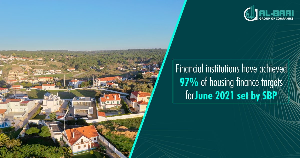 Financial Institutions Have Achieved 97% of Housing Finance Targets for June 2021 Set by SBP
