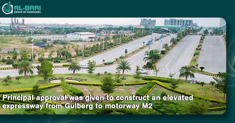 expressway approval from Gulberg to motorway M2